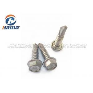 China Stainless Steel Tek Screws With Tapping Thread , Hex Washer Head SS Fasteners on sale