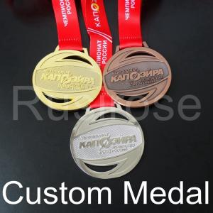 China Custom gold silver run medal,personalized Antique bronze honor runner sport medal,City Game Competition club award medal on sale
