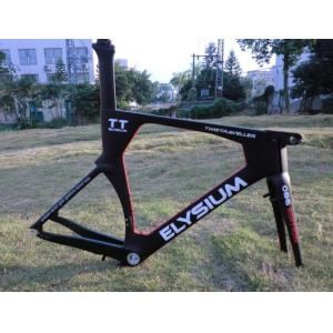 Quality Responsive 1360±40g Aero Frame Carbon Time Trial Bike Frame Custom Painting for sale