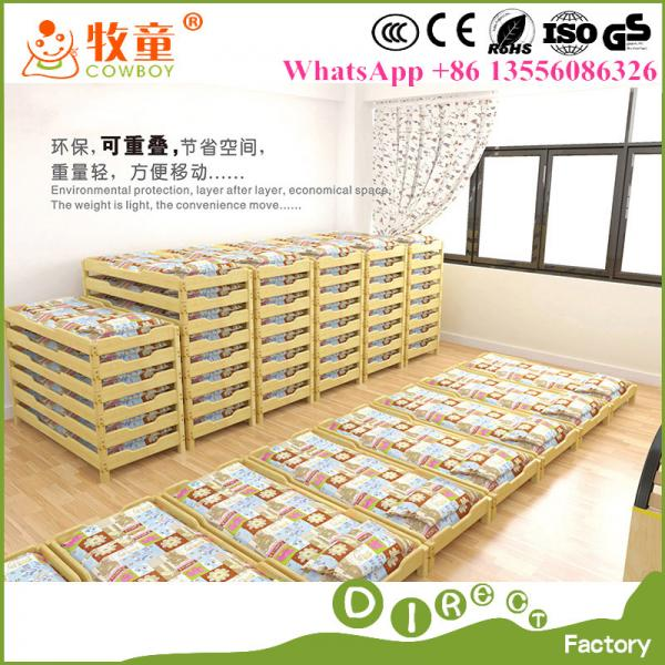 Style Of Guangzhou China Manufacturer Kids Child Care Wooden Stackable Beds for Kindergarten New Design - Simple Elegant preschool beds Modern
