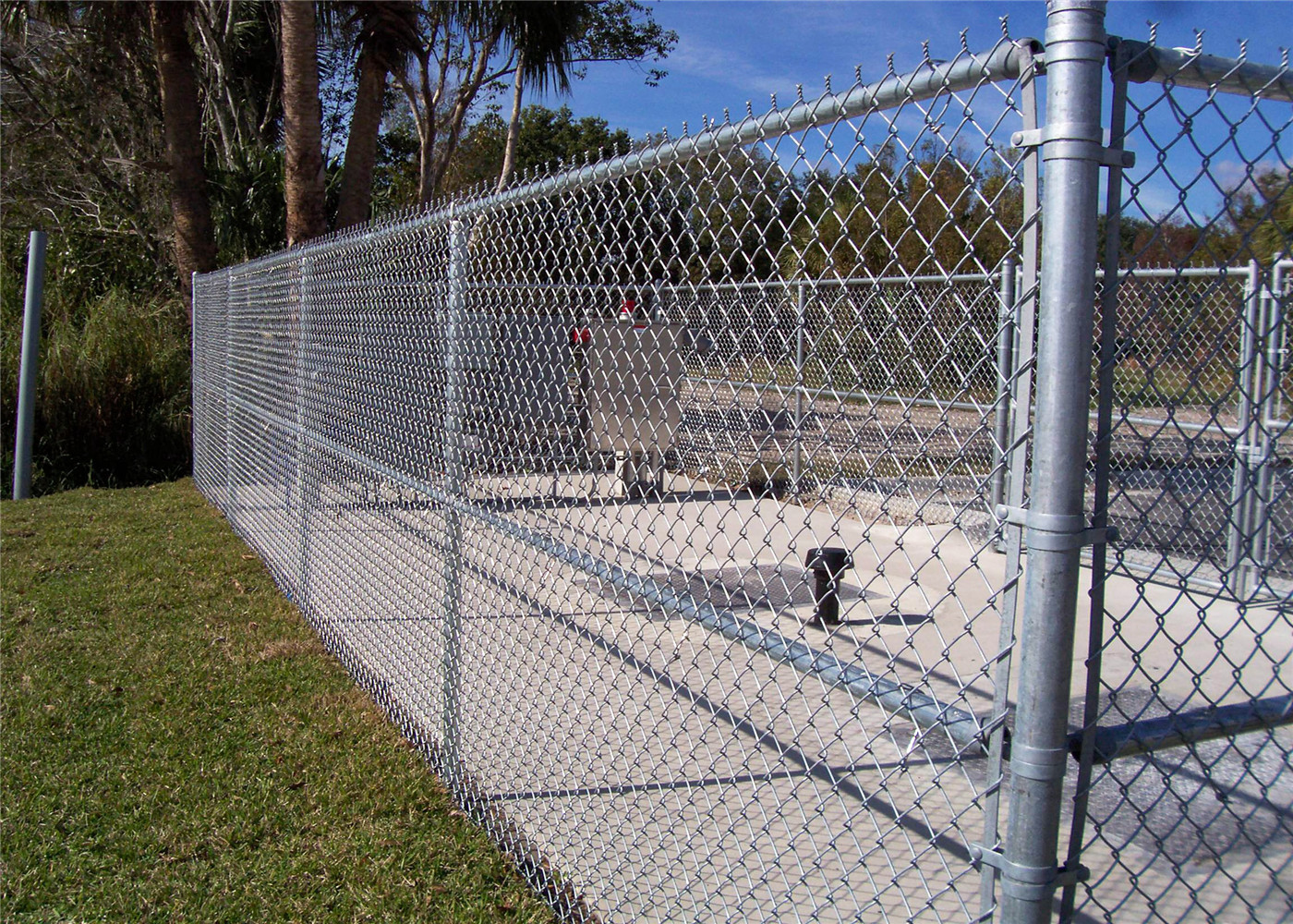 Powder Coated Steel Chain-Link Fence for sale – Chain Link Fabric ...