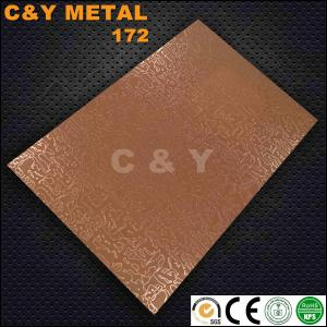 China CY-172 Embossing stainless steel sheet with rose-gold for hotel and cabinet's decoration on sale