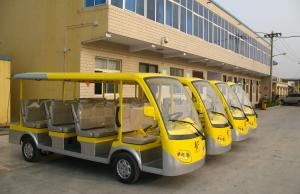 China Eleven Passengers 4.2 KW Transit Buddy Line of Electric Shuttle Bus / Sightseeing Bus on sale