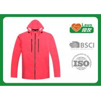 Womens Outdoor Jackets Windbreak , Ladies Outdoor Clothing Pink