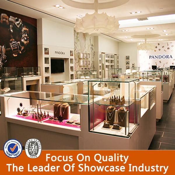 High Quality Decorative Design Jewelry Store Furniture Display Cases