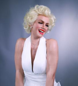 China life-size sexy lady marilyn monroe classic pose silicone wax figure for sale on sale