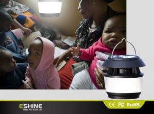 China Portable Rechargeable Solar Camping Lantern 8 Led with Hand Crank on sale