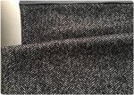 58 Wool HerringboneWeaveFabric 42 Polyester , Herringbone Material FabricBlack White Color