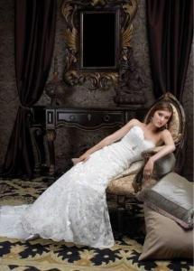 China Cheap Customer-Made Design Strapless lace Wedding dress 2011 on sale