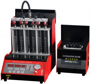 China Automatic 6 Cylinders Fuel Injector Tester And Cleaner 250W Gasoline Car Application on sale