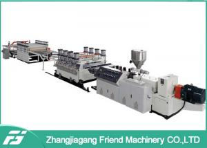 China White Pvc + Wood Board Wpc Board Production Line 1220mm Width 5mm Thickness on sale