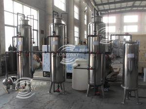 China Different working capacity Stainless steel reverse osmosis ro pure water production line/ pure water treatment on sale