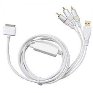 China IPod/iPhone/iPad  AV/USB cable (3xRCA+USB) on sale