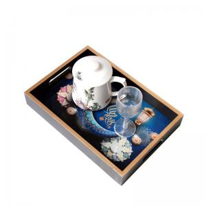 China FDA Restaurant Square Oil Painting Plate Tableware on sale
