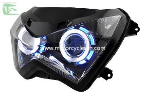 China Kawasaki Z250 Motorcycle  Parts HID Blue light Headlight Lens Headlamps on sale