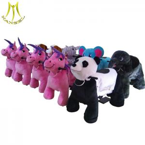 China Hansel battery operated stuffed animal kids pedal animal ride on car for mall on sale