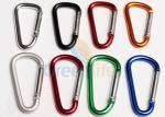 Anti - Lost Metal Carabiner Clip D Hooks Standard Different Colors For Lanyards
