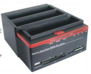 "Quality USB2.0&e-SATA to 2.5 3.5""SATA x3 multi-function HDD docking station 893U2S for sale"