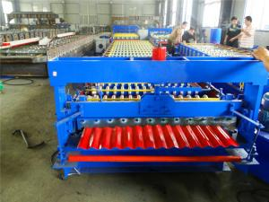 China High Speed Corrugated Iron Sheet Making Machine With PLC Control System on sale