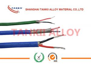 China Teflon insulated blue / red thermocouple cable  type JX KX EX with superfine bare wire conductor on sale