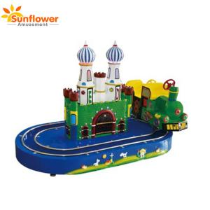 China Electric amusement kids train kiddie ride with track on sale