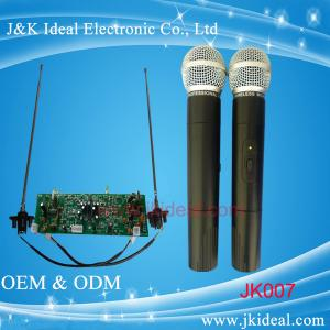 China JK007 Professional wireless microphone with two channels for conference system on sale