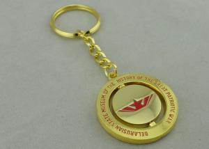 China Great Patriotic War Spinning Promotional Keychain With Misty Gold L Plating on sale