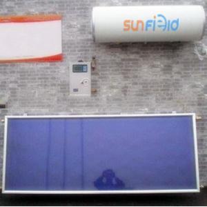 China Chauffe-eau solaire à panneau plat de revêtement bleu de chrome on sale