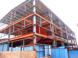 China Multi Layer Steel Warehouse Construction / Industrial Steel Structures on sale