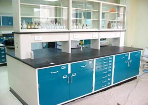 China Full Steel Lab Workbenches / Centre Table For School / College / University on sale