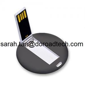 China Custom LOGO Printing Best Quality High Speed Plastic Mini Round Card USB Pen Drives on sale