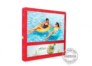 China 27 Inch Red Colour Wall Mount LCD Display Light Box For Elevator Advertising on sale