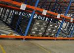 Gravity Adjustable Pallet Racking System , Pallet Flow Rack Storage Systems