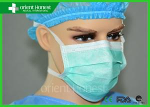 China OEM Green Tie - On Disposable Face Masks , Disposable Surgical Masks on sale