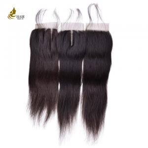 China Brazilian Straight Remy Hair 4*4  Lace Closure Natural Color 8inch - 20inch on sale