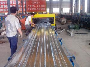 China Roof Tile Floor Decking Iron Sheet Making Machine With 5.5 KW Servo Motor on sale