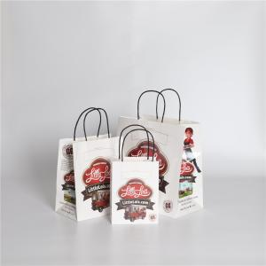 China Handle Printed Kraft Paper Bags on sale