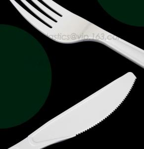 China Biodegradable plastic cutlery/knife/spoon/fork, cutlery/Dinnerware spoon/fork/knife, BPI SGS factory dinnerware cutlery on sale