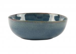 China Organic Porcelain Cereal Bowls 15CM With Reactive Color Glazed FDA Approved on sale