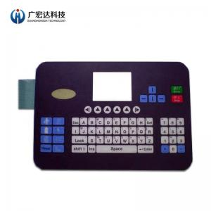 China Keyboard Pet Tactile Membrane Switch Circuit Printing Overlay Graphic ROHS Compliance on sale