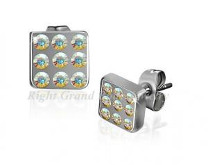China AB Crystal Piercing Stud Earrings For Wemen on sale