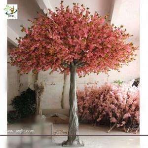 China UVG CHR034 Durable and Burly Silk Cherry Flower Factory Price Large Artificial Decorative on sale