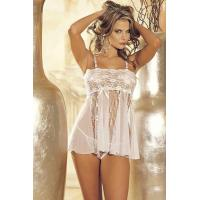 Sexy Lingerie Wholesale Sheer Lace Babydoll Lingerie Set Sexy Babydoll Lingerie Chemises wholesale from manufacturer