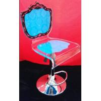 China Colorful Modern Acrylic Furniture / Acrylic Chair With Rolling Base on sale