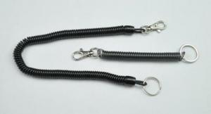 China Black Expanding Long or Short Customized Size Spiral ID Coil Key Chain Holders on sale