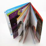 saddle stiching Full Color Booklet Printing with Hot Stamping on the Cover for business