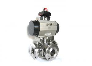 China Trunnion Mounted 3 Way Ball Valve Stainless Steel Material For Industrial on sale