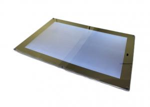 China Washing Room LED Magic Mirror Light Box Frameless , Chain Operation Store Slim Led Lightbox on sale