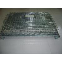 Foldable Iron Galvanized Wire Mesh Container, Wire Mesh Storage Boxesfor Warehouse