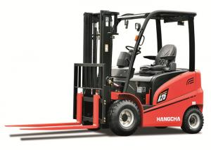 China Warehourse Industrial Forklift Truck / electric powered forklift on sale